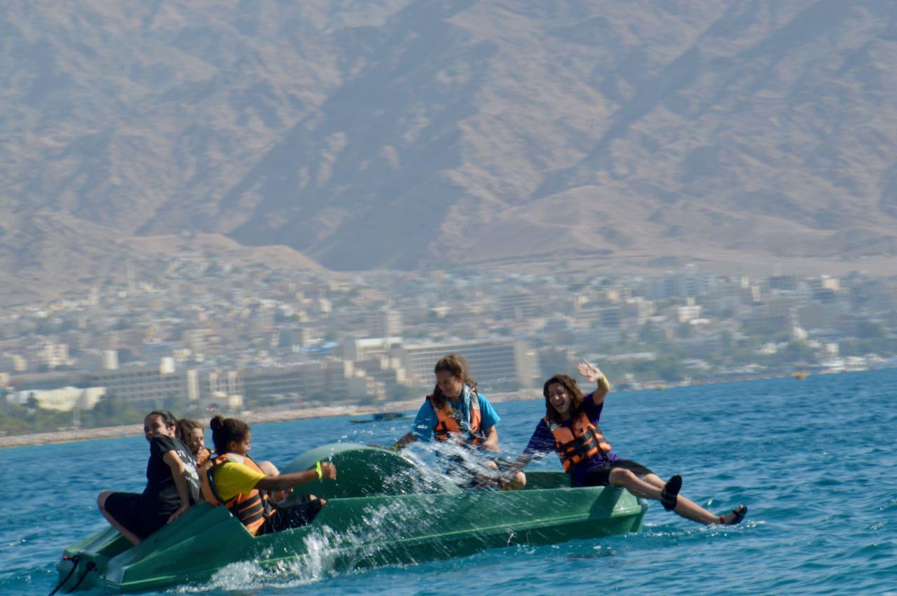 ספורט ימי בטיול השנתי-אילת